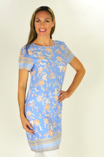 Bernadette Floral Tunic - at I Love Tunics @ www.ilovetunics.com = Number One! Tunics Destination