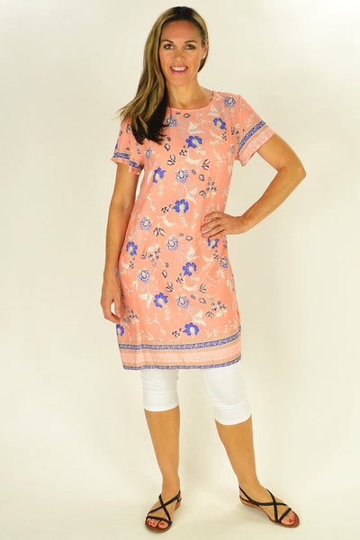 Apricot Floral Tunic