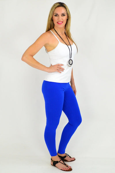 Full Length Cobalt Blue Leggings