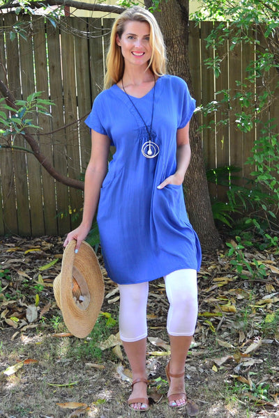 Blue Willow Tunic Dress