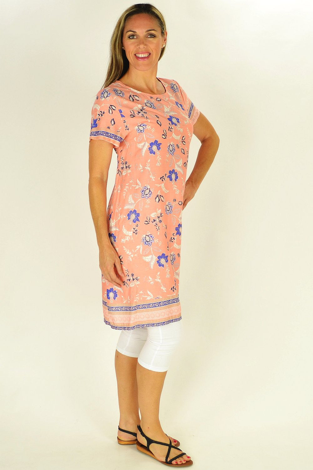 Apricot Floral Tunic | I Love Tunics | Tunic Tops | Tunic | Tunic Dresses  | womens clothing online