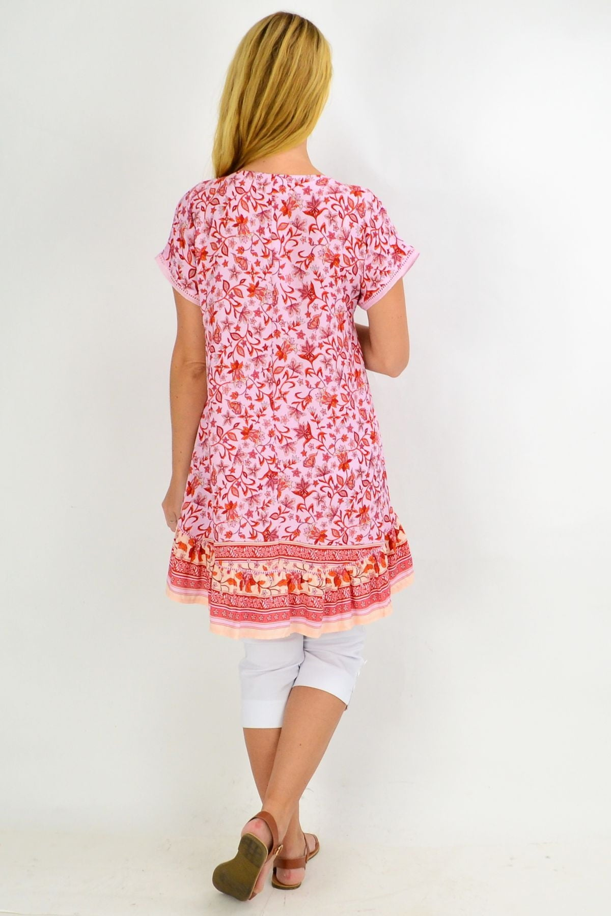 Cherry Blossom Hi Low Tunic Top