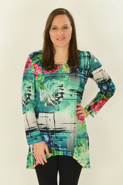 Wild Rose Tunic - at I Love Tunics @ www.ilovetunics.com = Number One! Tunics Destination