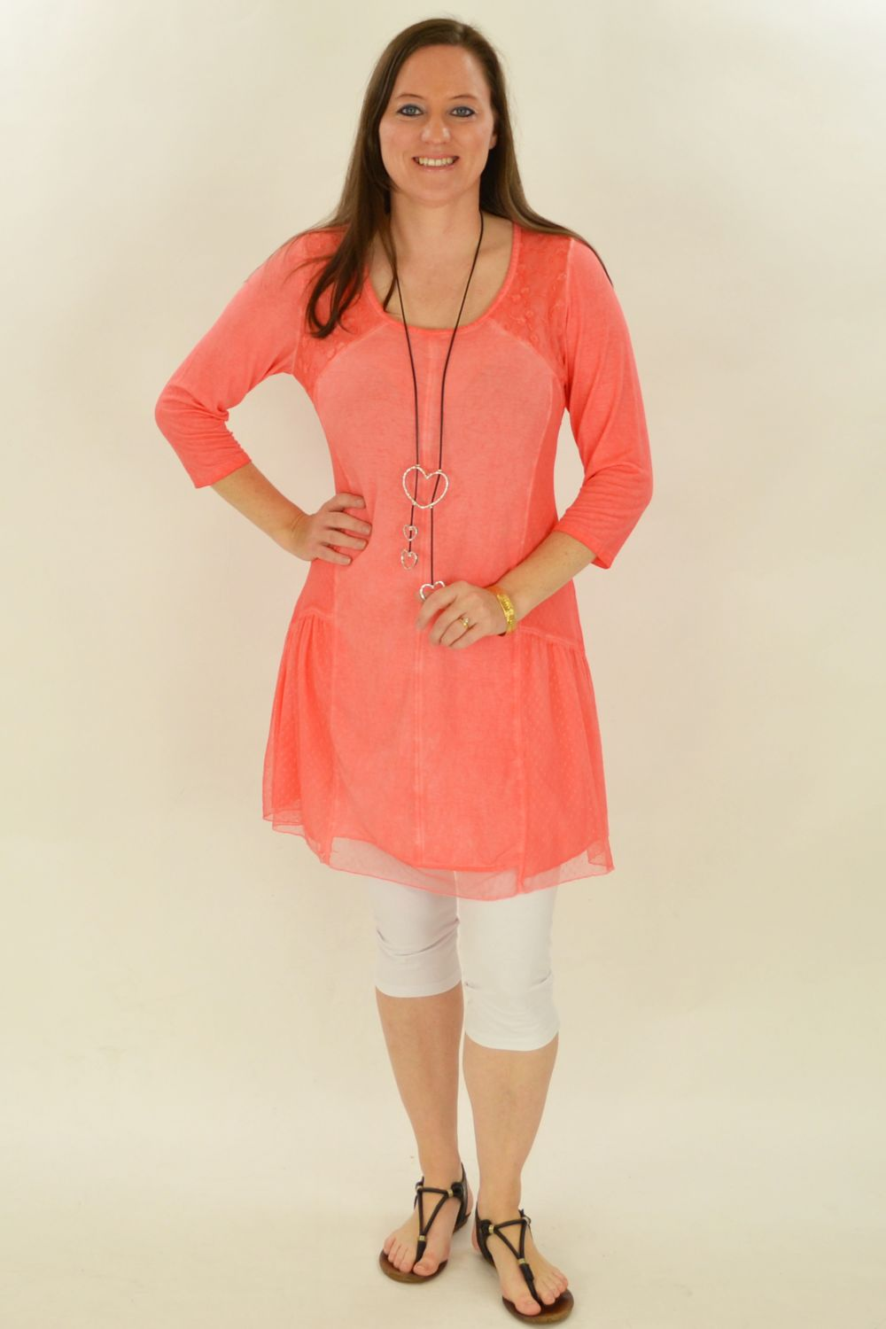 Peaches and Cream Tunic Top - at I Love Tunics @ www.ilovetunics.com = Number One! Tunics Destination