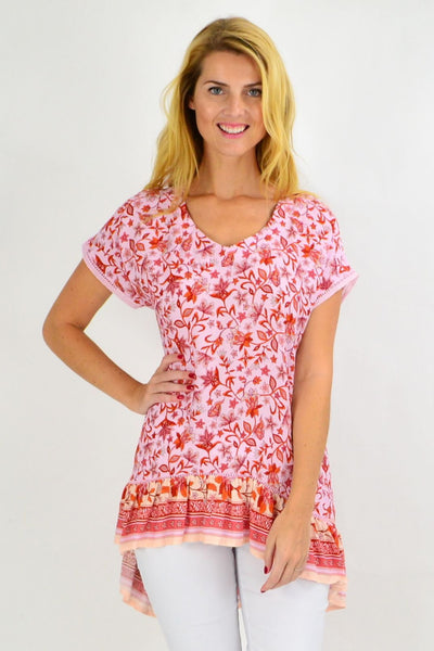 Cherry Blossom Hi Low Tunic Top | I Love Tunics | Tunic Tops | Tunic | Tunic Dresses  | womens clothing online
