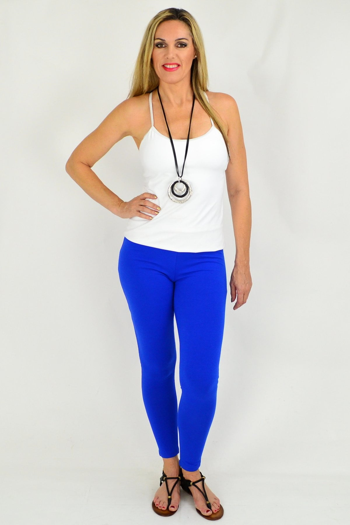 Full Length Cobalt Blue Leggings | I Love Tunics | Tunic Tops | Tunic | Tunic Dresses  | womens clothing online