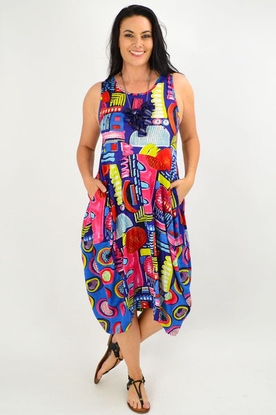 Catalonia Cocoon Tunic Dress