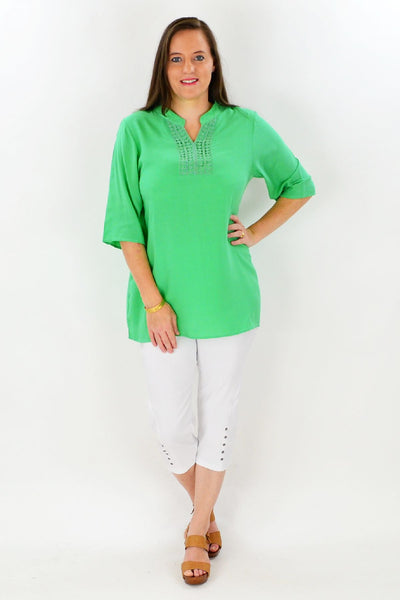 Green Nancy Tunic Top
