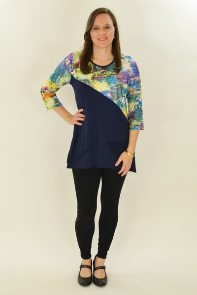 Navy River Tunic