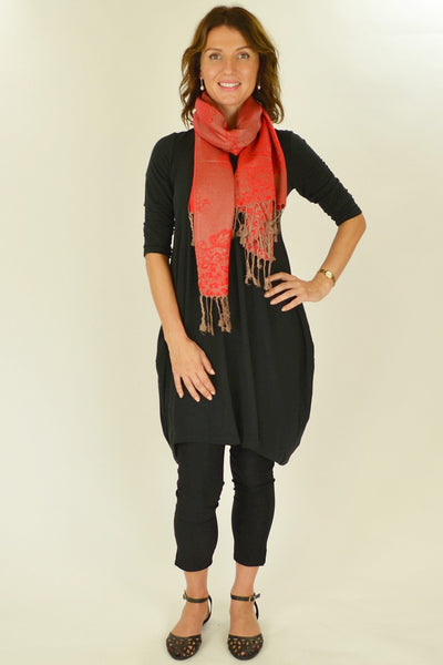 Red Golden Pashmina Scarf