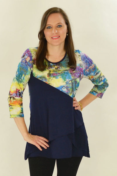 Navy River Tunic - at I Love Tunics @ www.ilovetunics.com = Number One! Tunics Destination