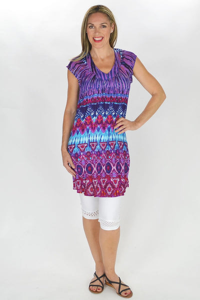 Perry Purple Tunic - at I Love Tunics @ www.ilovetunics.com = Number One! Tunics Destination