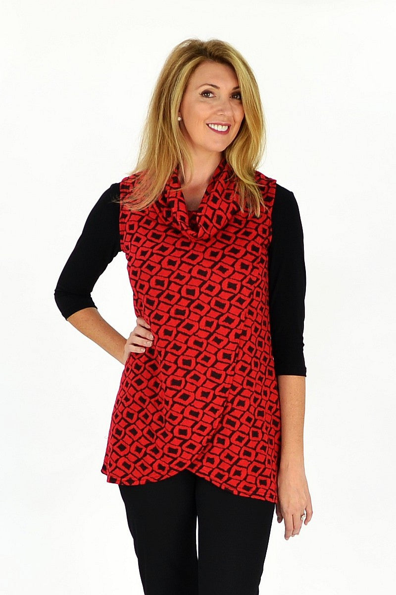 Red Mia Tunic - at I Love Tunics @ www.ilovetunics.com = Number One! Tunics Destination