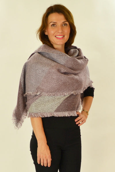 Debras Purple Diamond Scarf - at I Love Tunics @ www.ilovetunics.com = Number One! Tunics Destination