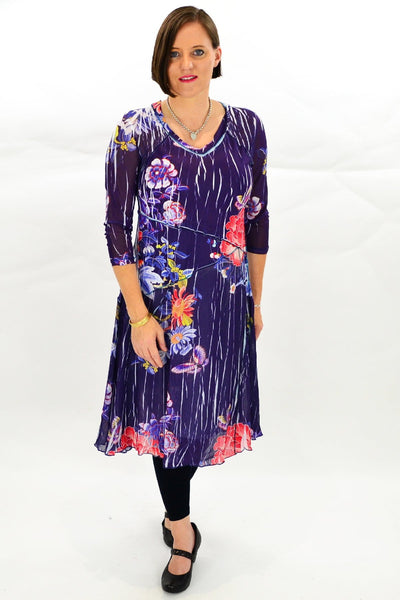 Navy Oriental Style Long Tunic Dress | I Love Tunics | Tunic Tops | Tunic | Tunic Dresses  | womens clothing online