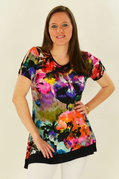 Rebecca's Jersey Tunic Top - at I Love Tunics @ www.ilovetunics.com = Number One! Tunics Destination