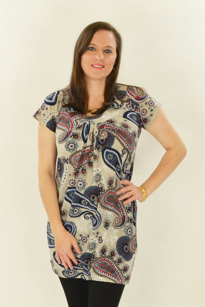 Long Paisley Tunic - at I Love Tunics @ www.ilovetunics.com = Number One! Tunics Destination