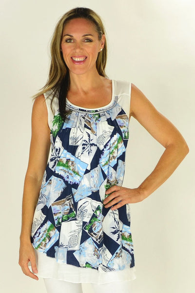 Tropical Island Clarity Tunic | I Love Tunics | Tunic Tops | Tunic | Tunic Dresses  | womens clothing online