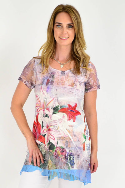 Michelle's Garden Tunic Top