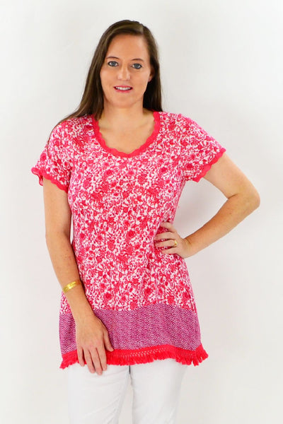 Ashlee Tassel Tunic Top | I Love Tunics | Tunic Tops | Tunic Dresses | Women's Tops | Plus Size Australia | Mature Fashion