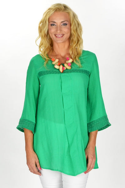 Green Goddess Tunic - at I Love Tunics @ www.ilovetunics.com = Number One! Tunics Destination
