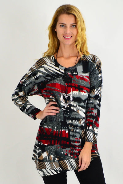 Rochelle V Neck Tunic - I Love Tunics