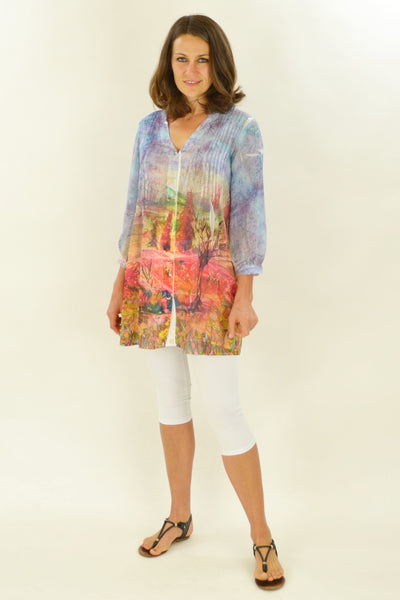 Country Landscape Tunic Shirt