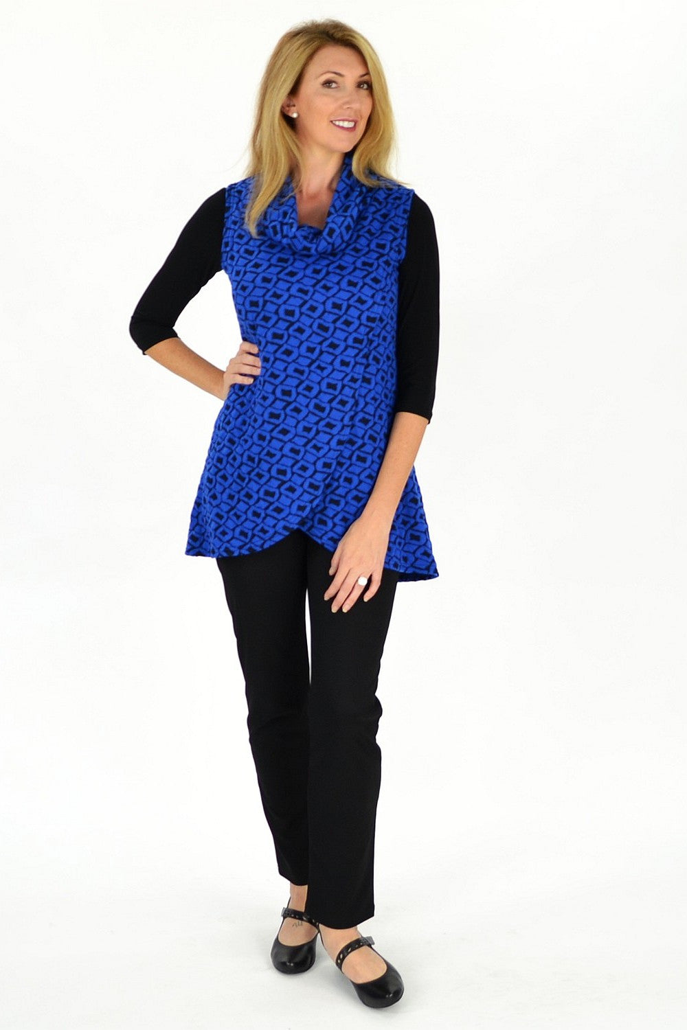 Cobalt Blue Mia Tunic - at I Love Tunics @ www.ilovetunics.com = Number One! Tunics Destination