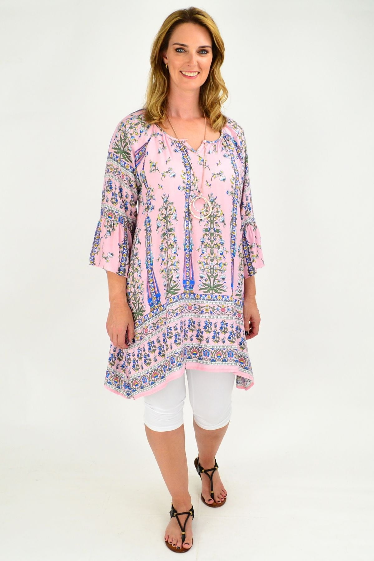 7ed70356618 Light Pink Tunic | Rayon | Loose fit blouse | Summer top | plus size ...