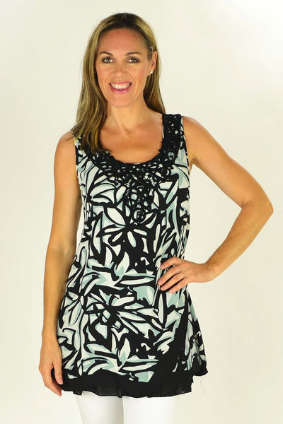 Black White Threadz Tunic - at I Love Tunics @ www.ilovetunics.com = Number One! Tunics Destination