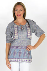 Grey Rita Tunic Top - at I Love Tunics @ www.ilovetunics.com = Number One! Tunics Destination