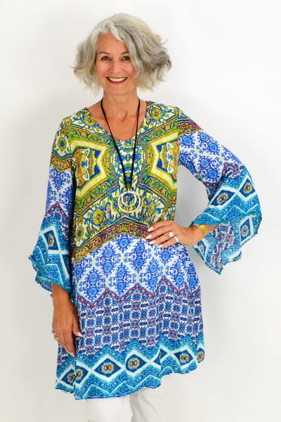 Barbaras Blue Tunic Top | I Love Tunics | Tunic Tops | Tunic | Tunic Dresses  | womens clothing online