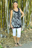 Black White Threadz Tunic