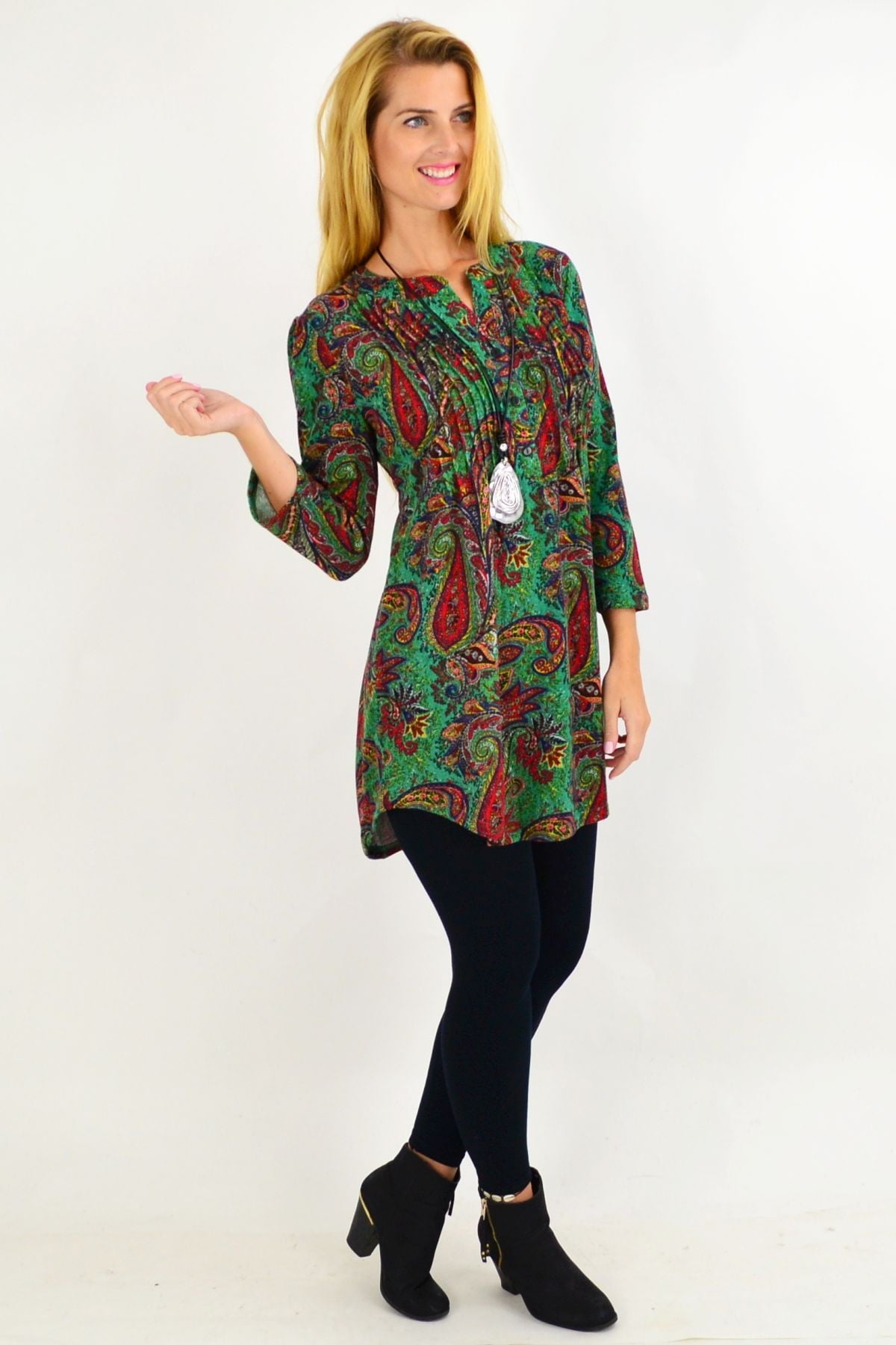 Green Paisley Tunic Top | I Love Tunics | Tunic Tops | Tunic | Tunic Dresses  | womens clothing online