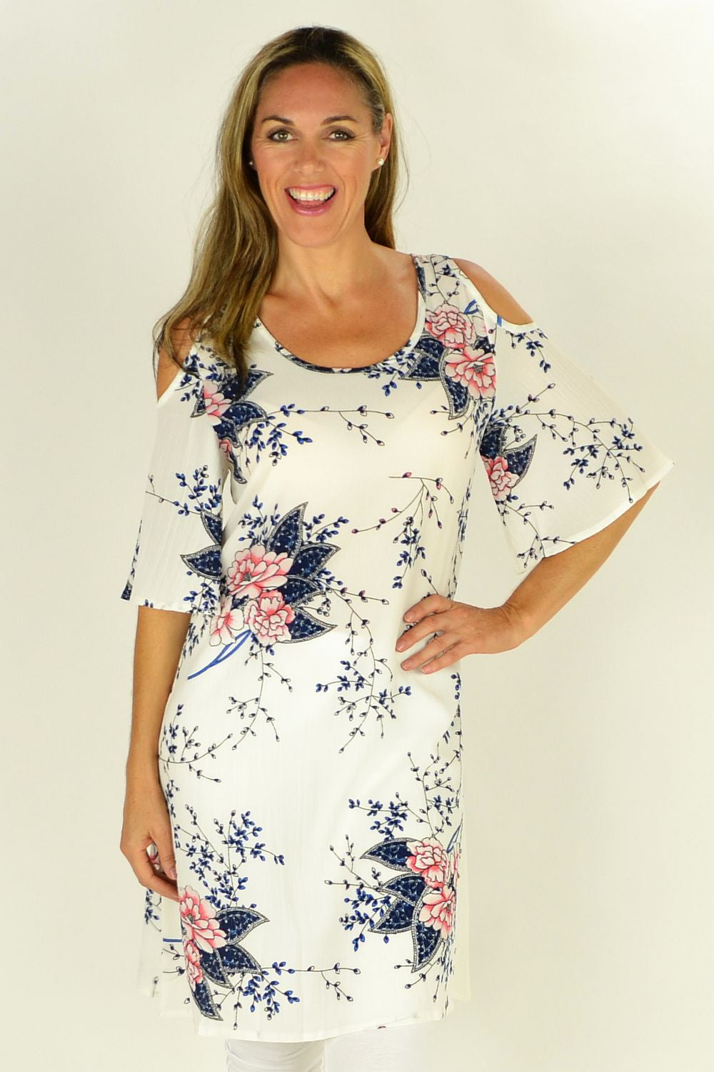 White Flower Tree Tunic