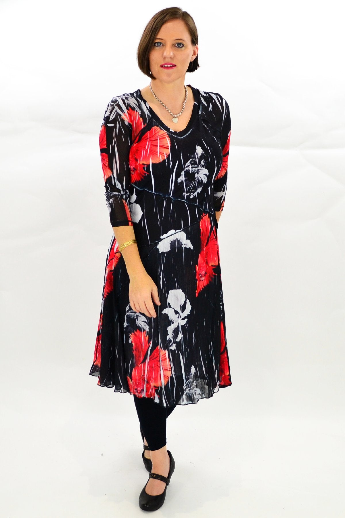 Red Oriental Style Tunic Dress | I Love Tunics | Tunic Tops | Tunic | Tunic Dresses  | womens clothing online