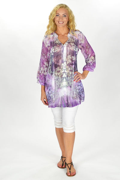 Purple Frenchy Penny Tunic