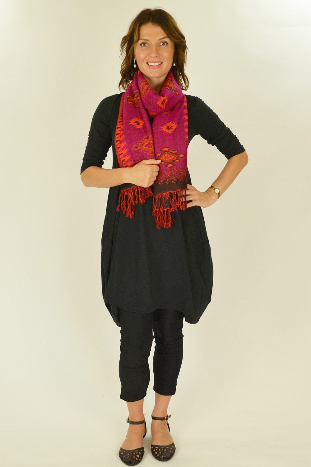 Hot Pink Pashmina Scarf - at I Love Tunics @ www.ilovetunics.com = Number One! Tunics Destination