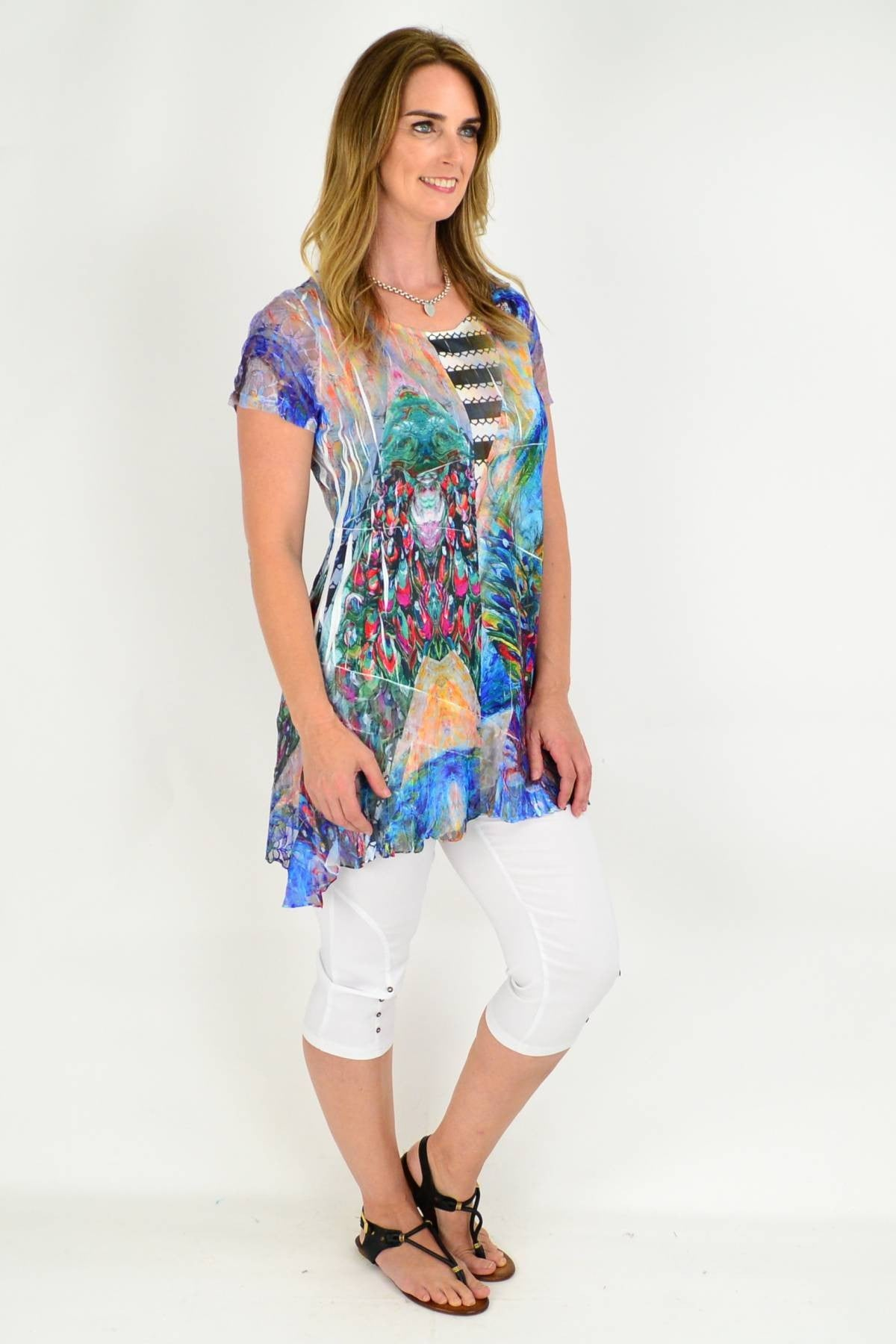 colourful tunic top