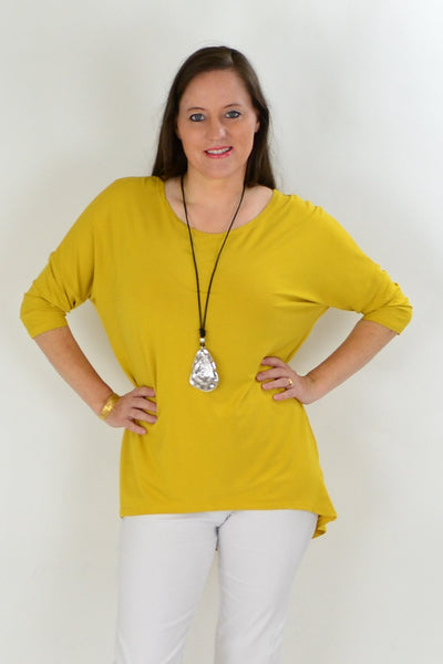 Mustard Bamboo Tunic Top
