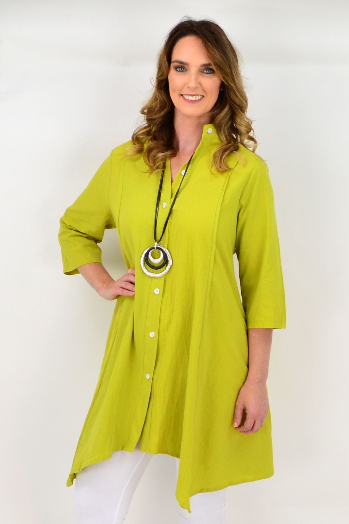 Lime Amaya Tunic Top