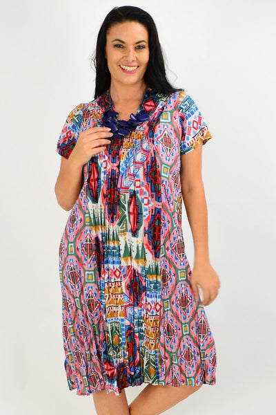 Santiago Crinkle Tunic Dress | I Love Tunics | Tunic Tops | Tunic | Tunic Dresses  | womens clothing online