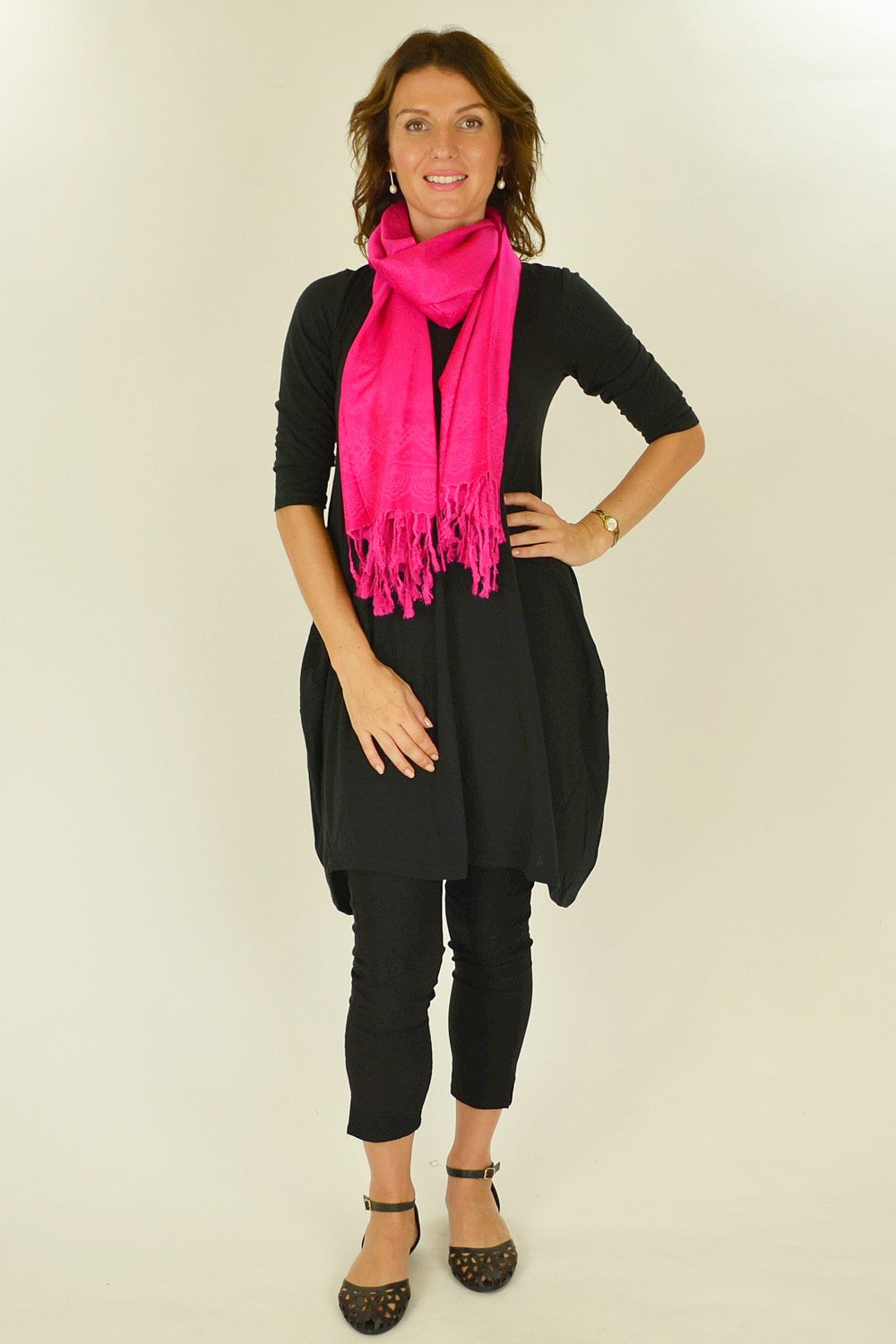 Bright Pink Pashmina Scarf | I Love Tunics | Tunic Tops | Tunic | Tunic Dresses  | womens clothing online