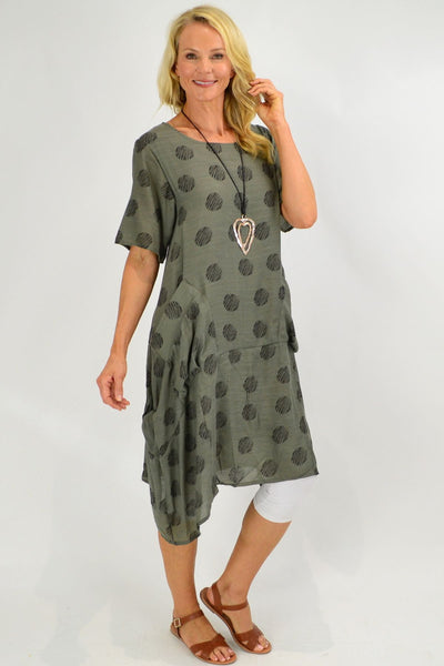 Grey Bubble Tunic Dress