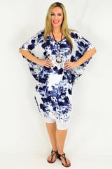 Relaxed Fit Light Cool Blue Floral Tunic | I Love Tunics | Tunic Tops | Tunic | Tunic Dresses  | womens clothing online