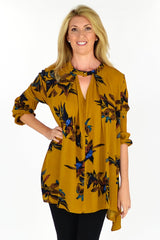 Mustard Rachel Tunic - at I Love Tunics @ www.ilovetunics.com = Number One! Tunics Destination