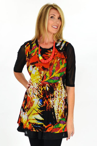 Yellow Cafe Tunic - at I Love Tunics @ www.ilovetunics.com = Number One! Tunics Destination