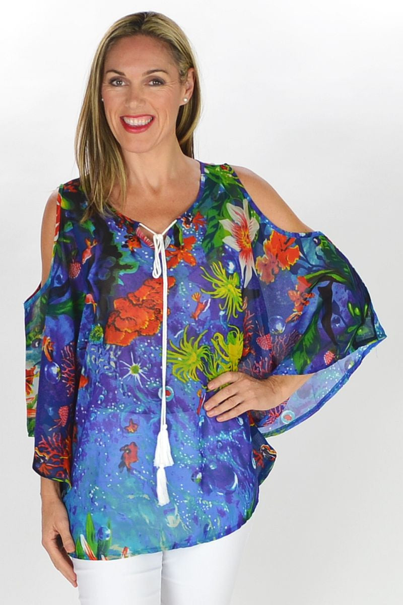Underwater Garden Tunic | I Love Tunics | Tunic Tops | Tunic | Tunic Dresses  | womens clothing online