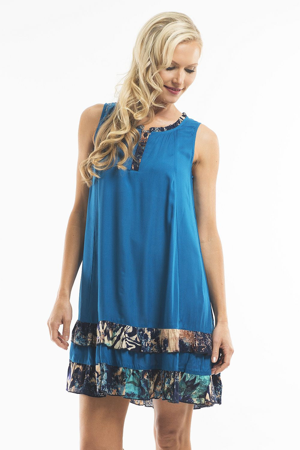 Blue Beauty Tunic - at I Love Tunics @ www.ilovetunics.com = Number One! Tunics Destination