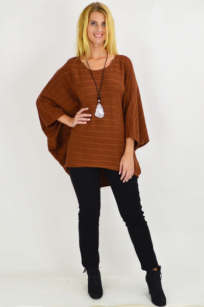 Mandy Tan Textured Knit Tunic